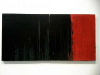 Black and Red Diptych 2010 Courtesy Galerie Jaeger Bucher